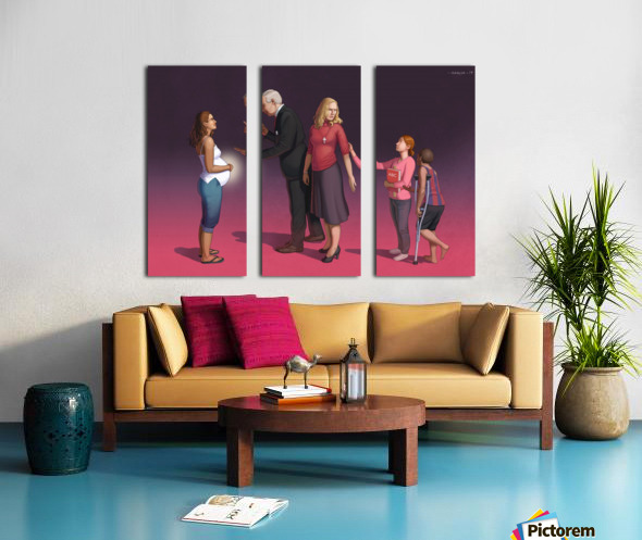 Pro Life Split Canvas print