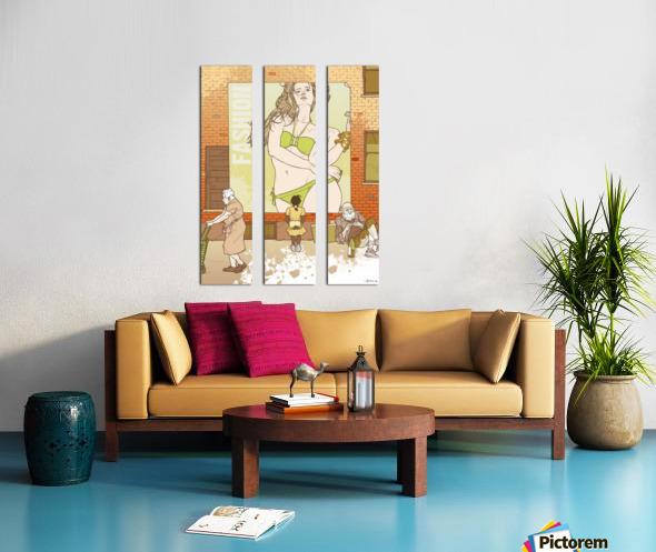 Fashion Split Canvas print