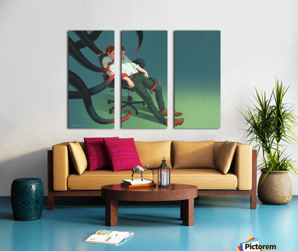 Depression Split Canvas print