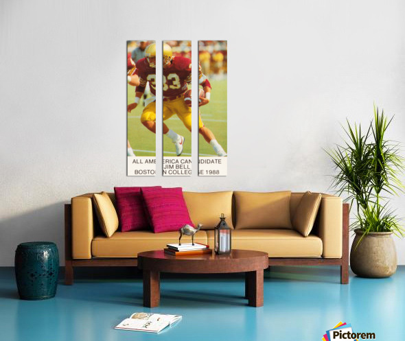 1988 Boston College Football Poster Split Canvas print