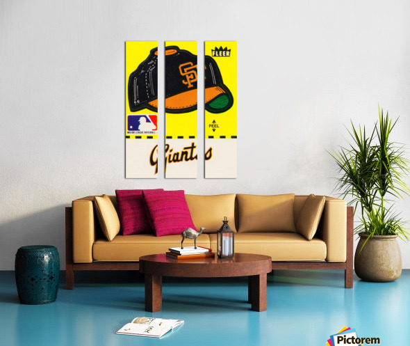 1981 San Francisco Giants Fleer Decal Poster Split Canvas print