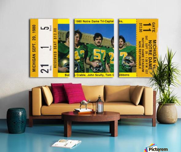 1980 Notre Dame vs. Michigan Split Canvas print