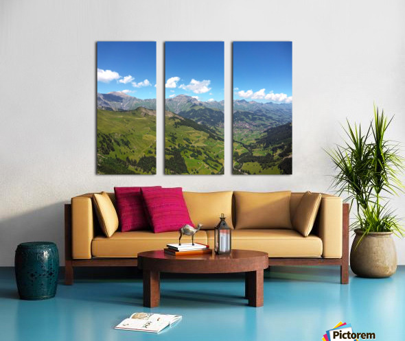 Swiss Highlands View to Forever Split Canvas print