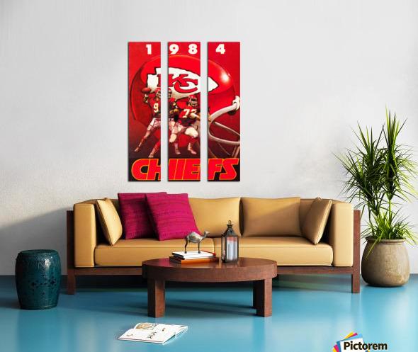 1984 Kansas City Chiefs Football Poster Split Canvas print