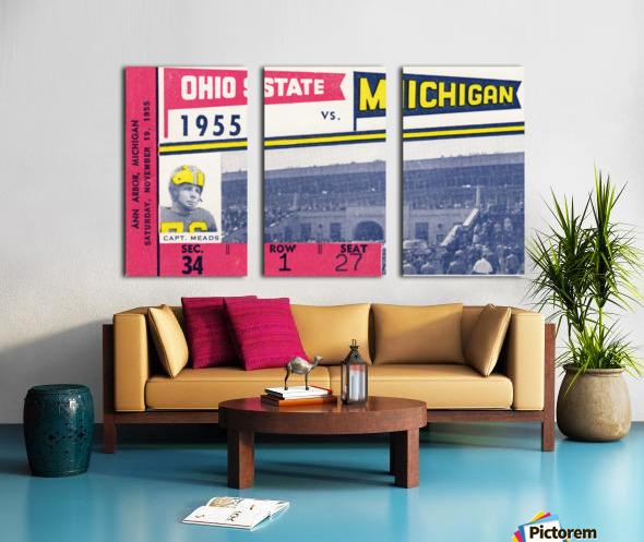 1955 Michigan vs. Ohio State Football Ticket Art Split Canvas print