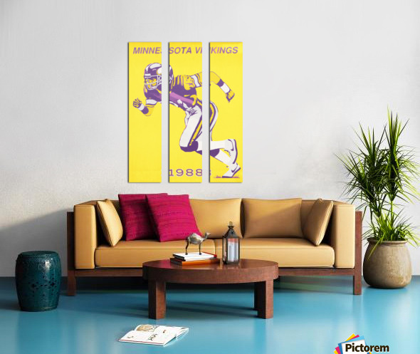 1988 Minnesota Vikings Football Poster Split Canvas print