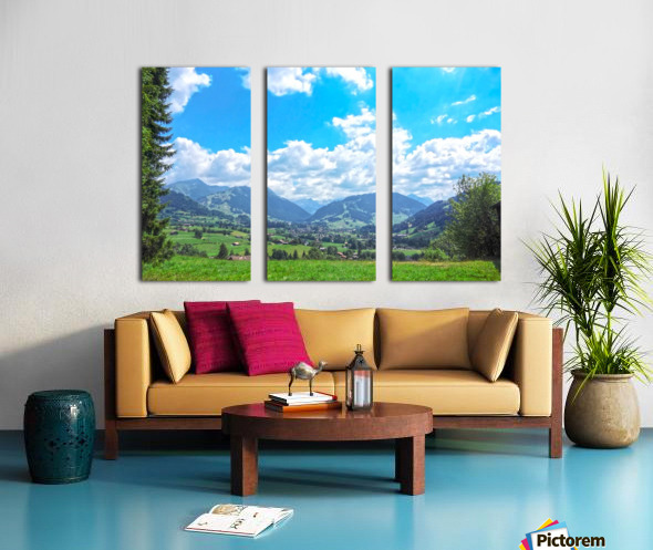 The Last Paradise in a Crazy World Gstaad Switzerland Split Canvas print
