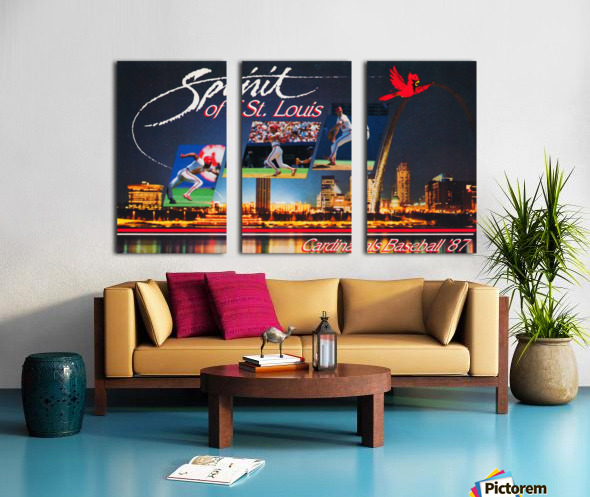 1987 St. Louis Cardinals Baseball Art Split Canvas print