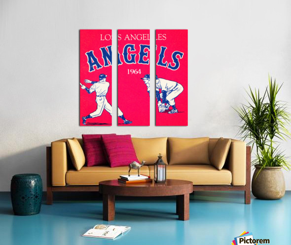 1964 Los Angeles Angels Baseball Art Split Canvas print
