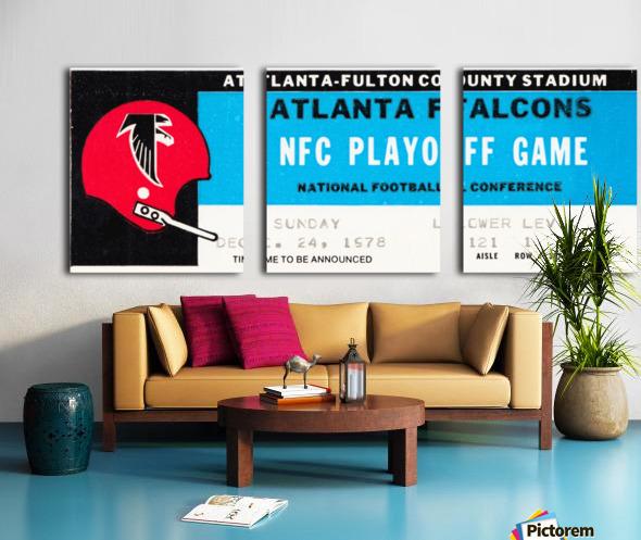 1978 Atlanta Falcons Ticket Stub Art Split Canvas print