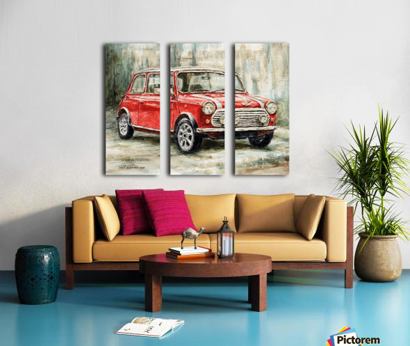 Mini Cooper S 2000 Split Canvas print