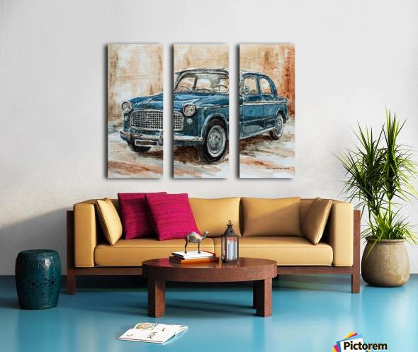 1960 Fiat 1100 103 H Split Canvas print