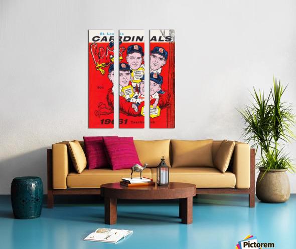 1961 St. Louis Cardinals Yearbook Poster Split Canvas print