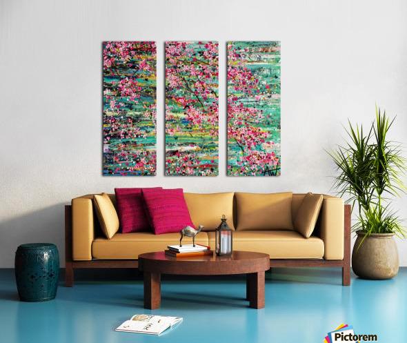 Cherry Blossoms Split Canvas print