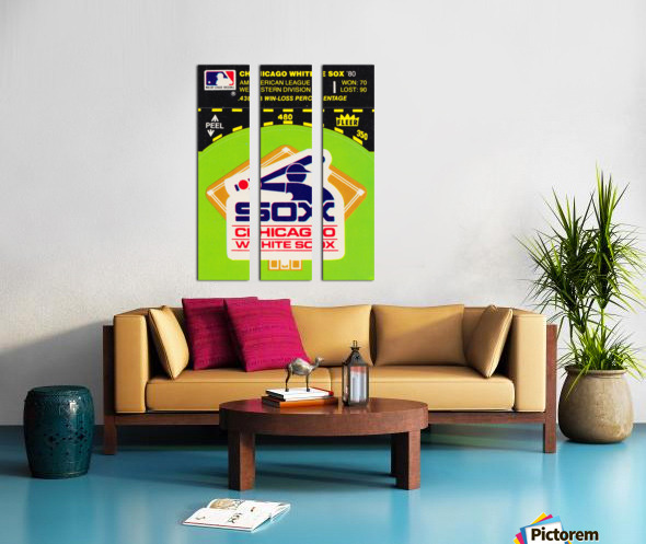 1980 Chicago White Sox Fleer Decal Wall Art Split Canvas print
