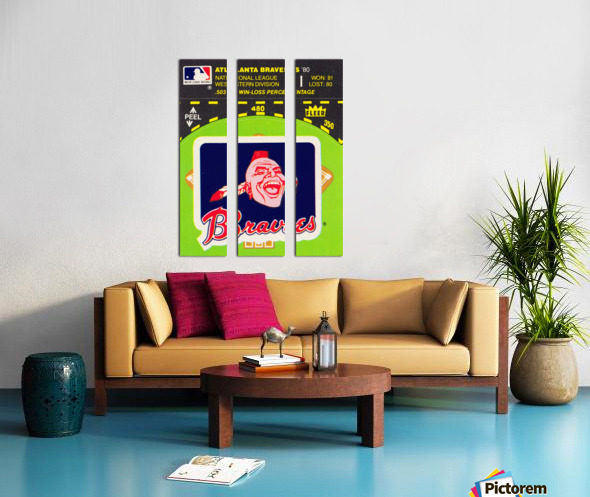 1981 Atlanta Braves Fleer Decal Poster Split Canvas print
