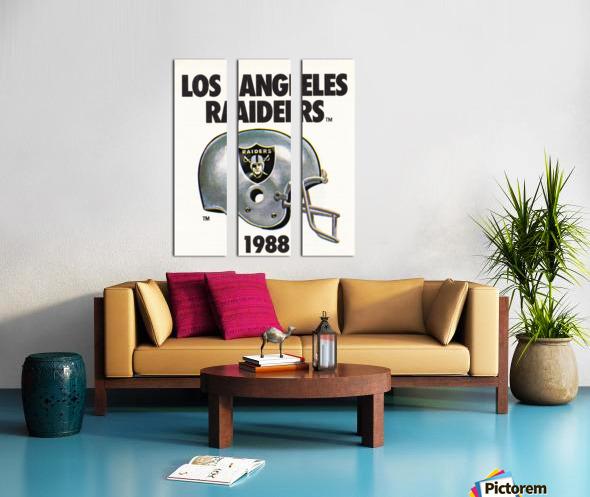 1988 Los Angeles Raiders Helmet Art Split Canvas print