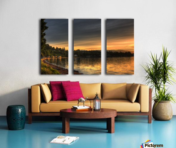 Before Sunset by Randy Hall Split Canvas print