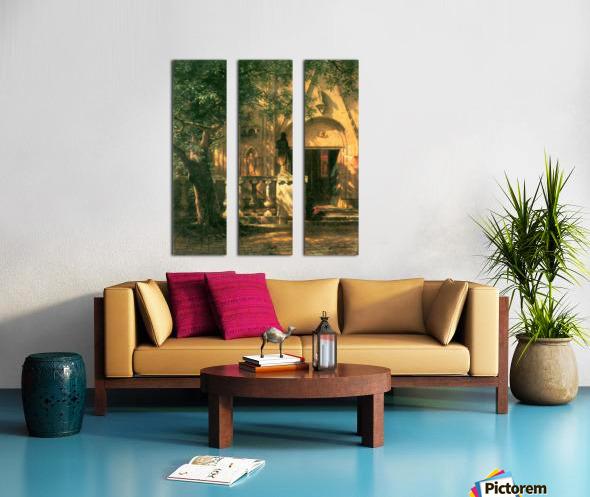 Sunlight and Shadow 2 by Bierstadt Split Canvas print