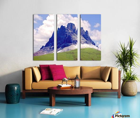 Mountain Peak in the Swiss Alps Split Canvas print