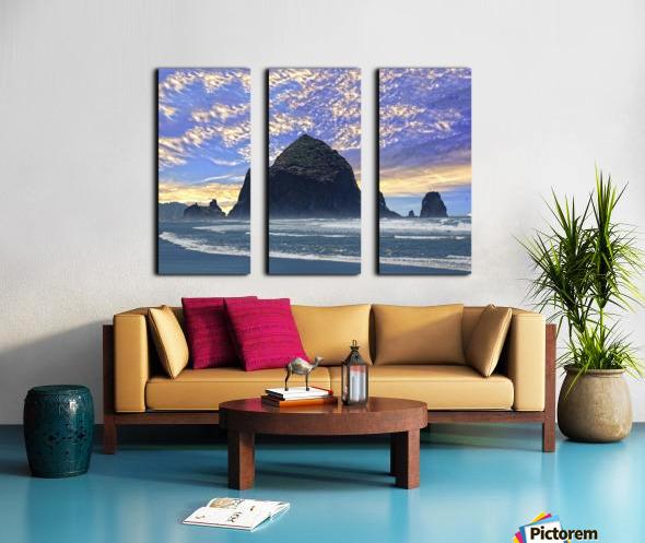 Haystack Rock at Cannon Beach Split Canvas print