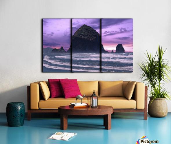 Cannon Beach at Sunset Split Canvas print