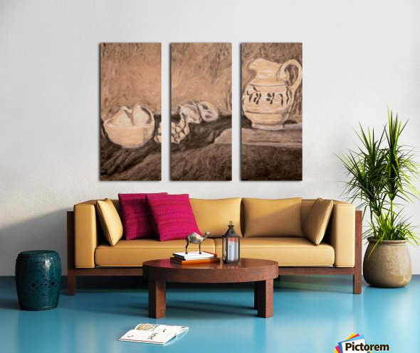 Fruit and Pitcher Split Canvas print