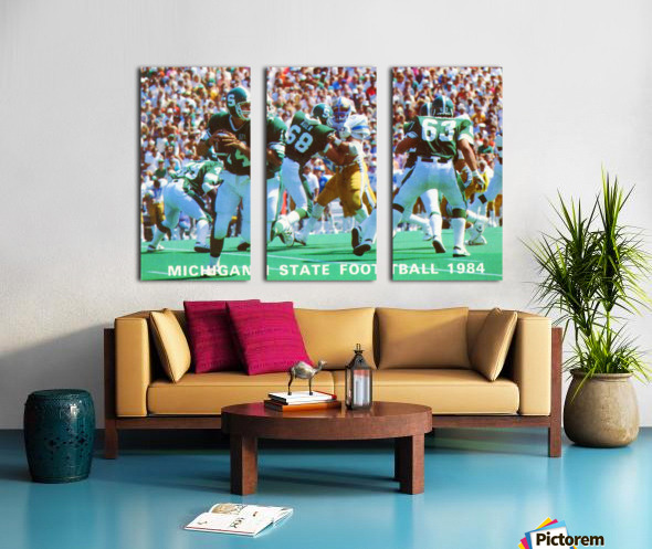 1984 Michigan State Football Poster Split Canvas print