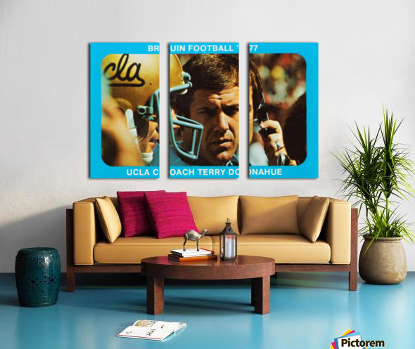 1977 UCLA Bruins Terry Donahue Football Poster Split Canvas print