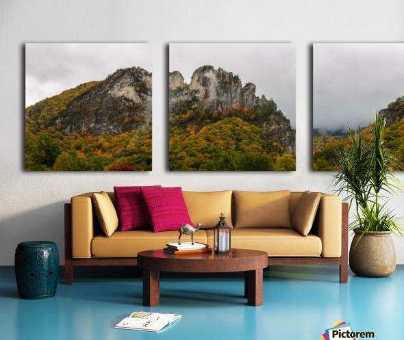 Seneca Rocks apmi 1884 Split Canvas print
