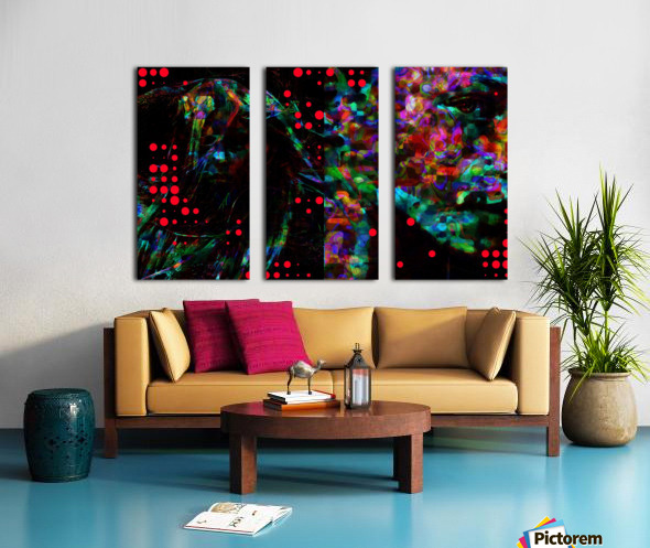 Zara life  Split Canvas print