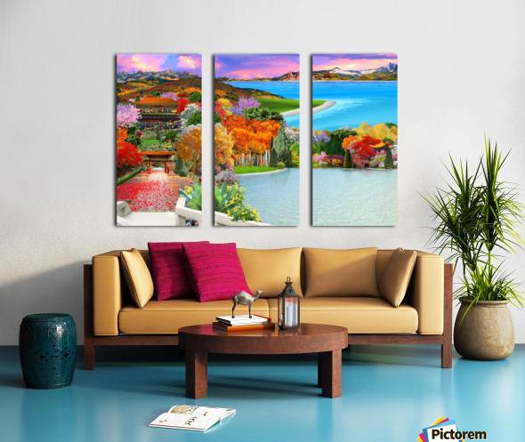 ASIAN HOME Split Canvas print