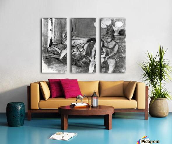 Taking a rest by Degas Split Canvas print
