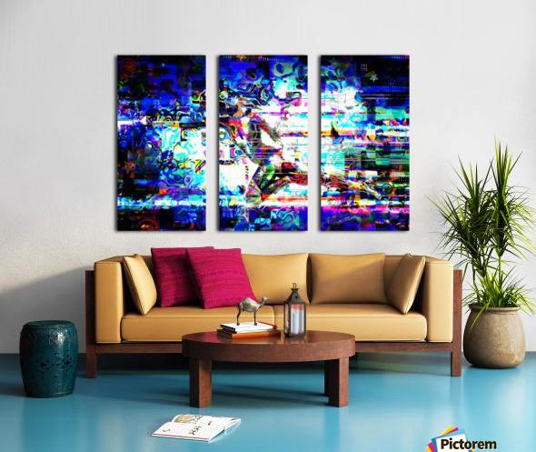 Flash1 Split Canvas print