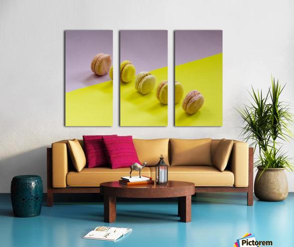 food macaroon photography Split Canvas print