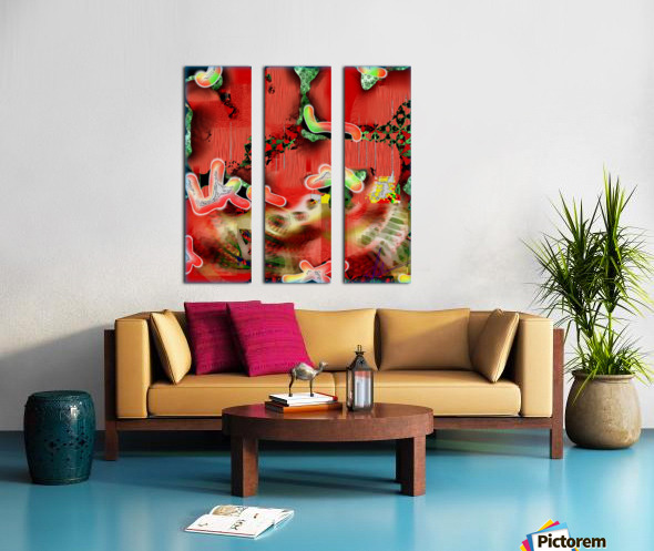 Residents of a Growling Stomach Split Canvas print