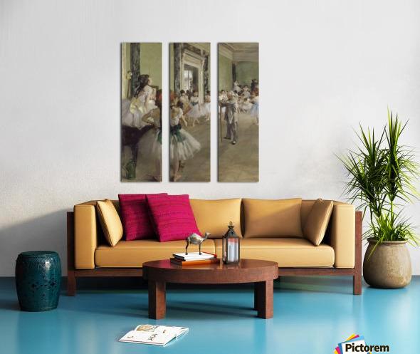 The Ballet Class by Degas Split Canvas print
