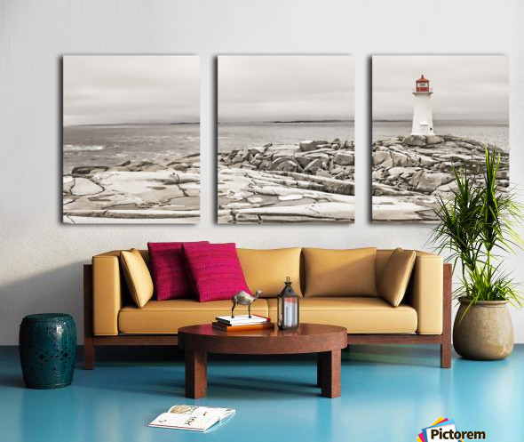 Peggys Cove Lighthouse Split Canvas print