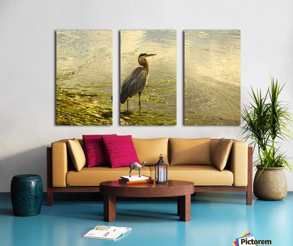 Blue Heron At the Estuary Split Canvas print