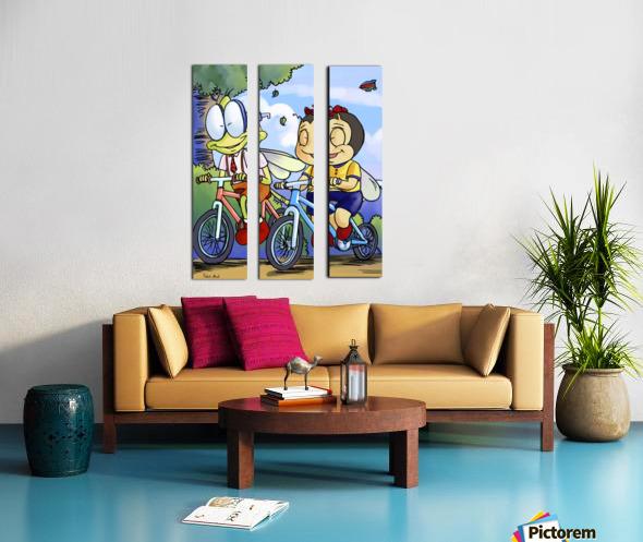 Best Friends Split Canvas print