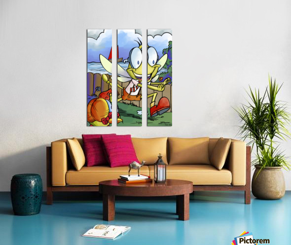 Dag Dragonfly - The Chase Split Canvas print