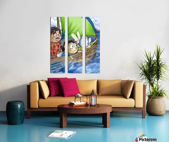 Sail Away with Us Split Canvas print