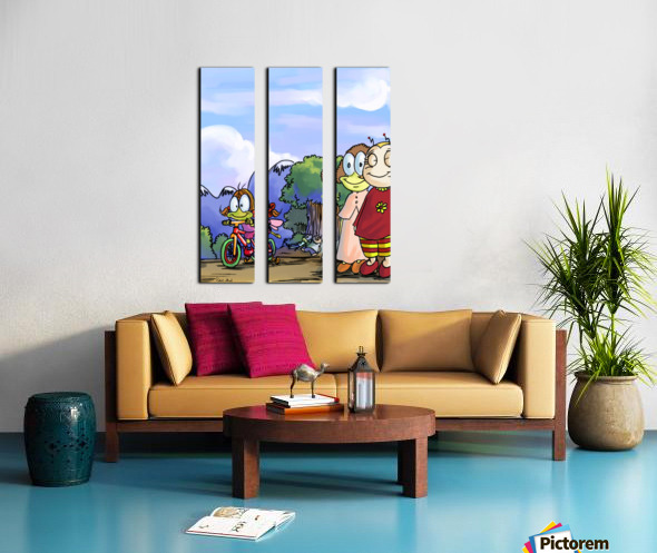 Moms and Dads Split Canvas print