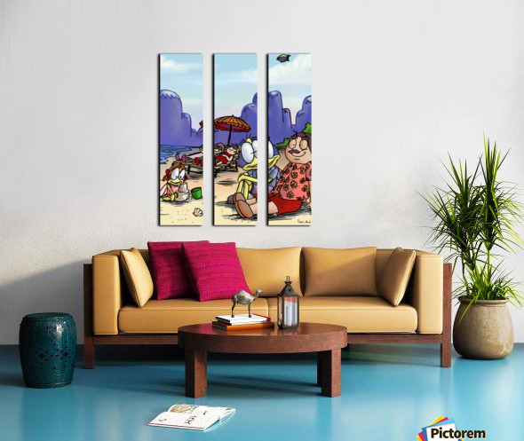 Moms and Dads 2 Split Canvas print