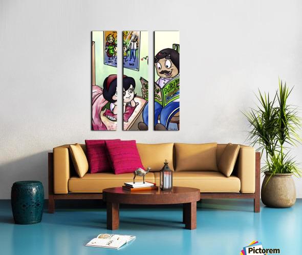 Bedtime - Goodnight Its Storytime  Split Canvas print