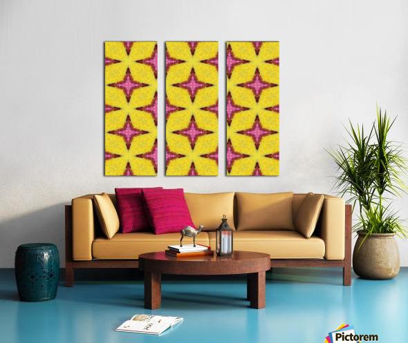 yellowpink Split Canvas print