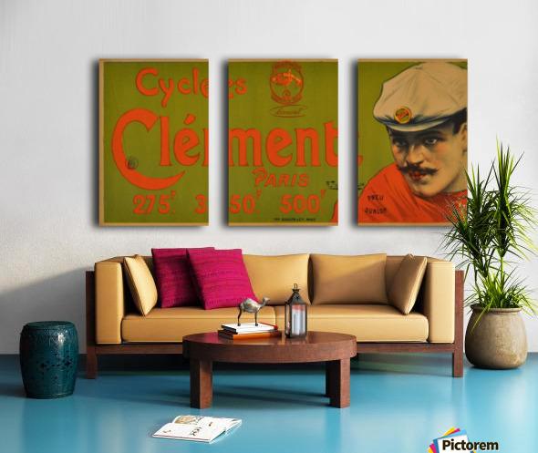 Clement Paris Cycles Split Canvas print