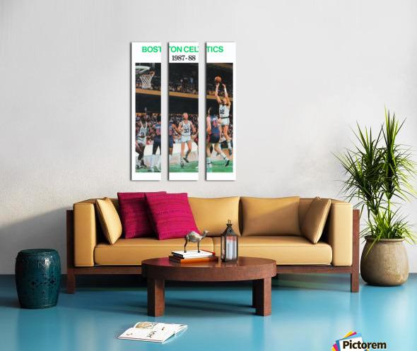 1987 Boston Celtics Larry Bird Poster Split Canvas print