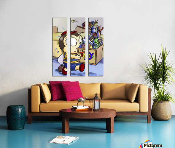 My Toys - Buster Bee Split Canvas print