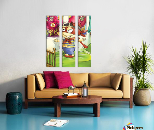 Its Super Buster to the Rescue Split Canvas print